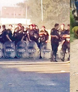 Violento desalojo de un asentamiento en Bernal