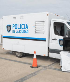 Larreta presentó los camiones escáners para la Policía