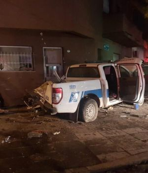 Chocaron dos patrulleros entre sí en Barracas: 6 efectivos de Prefectura, heridos