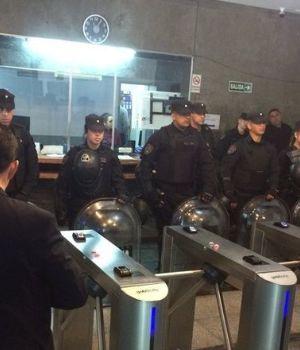 Manifestación de policías en el Ministerio de Seguridad