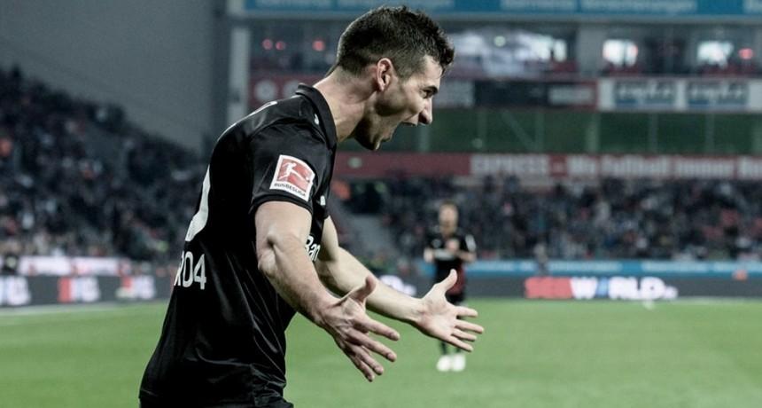 Bayer Leverkusen venció con un gol de Alario a Fortuna Düsseldorf en la Bundesliga