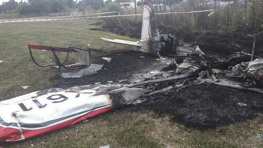 Dos personas murieron al caer una avioneta en el aeródromo de General Rodríguez