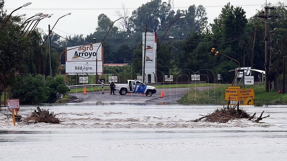 Un temporal causó anegamientos y evacuados en zonas de Santa Fe y Entre Ríos