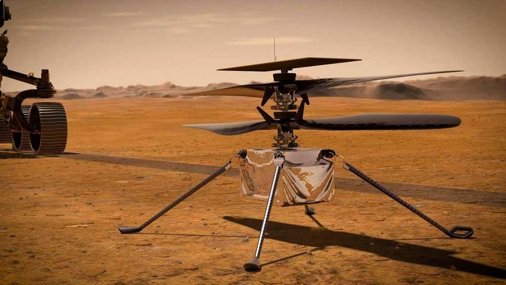 Un helicóptero de la NASA empezará a emitir primeras imágenes de Marte
