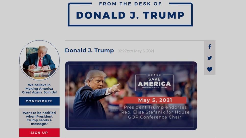 Trump lanzó una nueva plataforma tras ser suspendido de las redes sociales