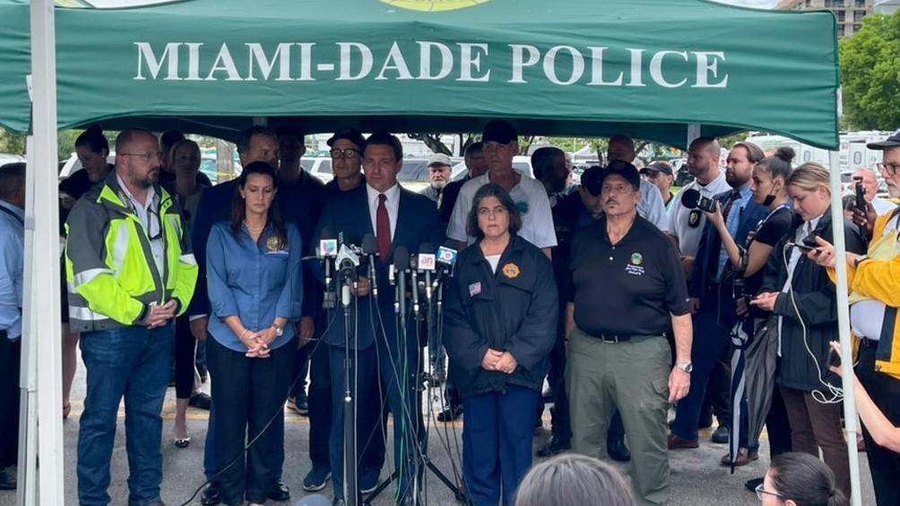 Derrumbe en Miami: