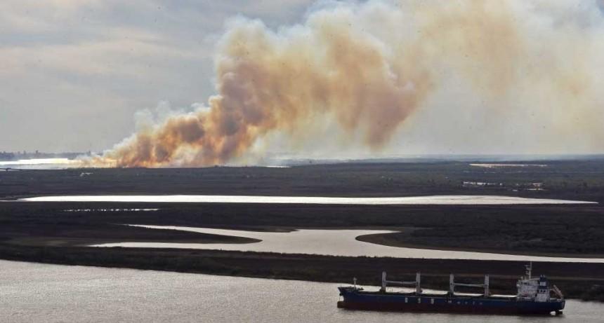 Suman brigadistas y vehículos para trabajar sobre nuevos incendios en el delta del Paraná