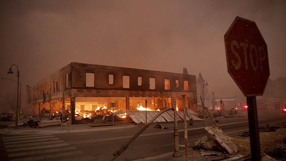 Un pueblo fue destruido por