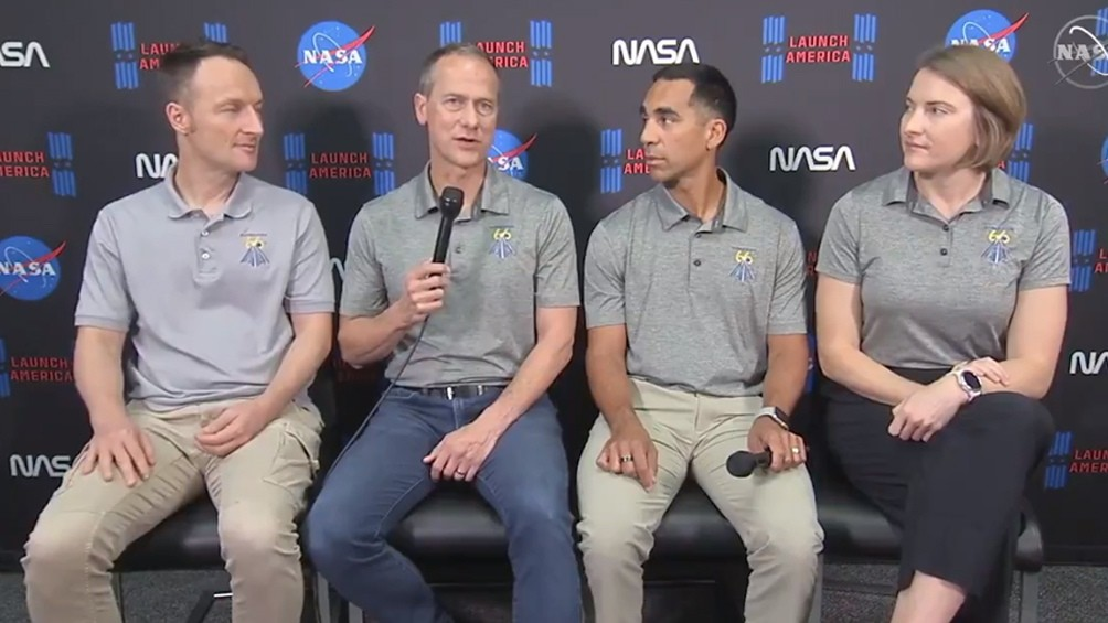 La NASA enviará a cuatro astronautas a la Estación Espacial Internacional el domingo